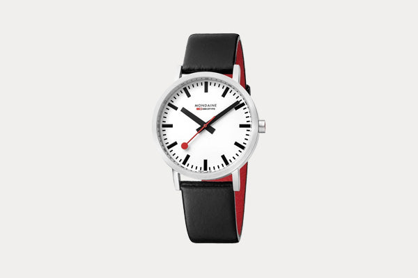MONDAINE Classic Watch with Leather Band - 40mm