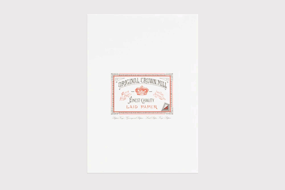 ORIGINAL CROWN MILL Laid Writing Paper (A4)
