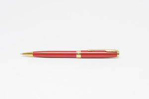PARKER Sonnet Ballpoint Pen - Red Lacquer With Gold Trim