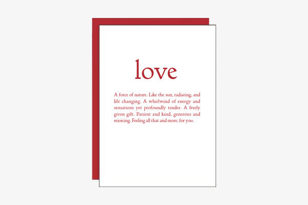 REFINEMARK Storyline Collection Greeting Cards Set - Love