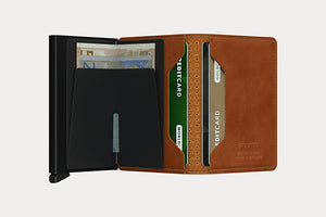 SECRID Slimwallet - Perforated Cognac