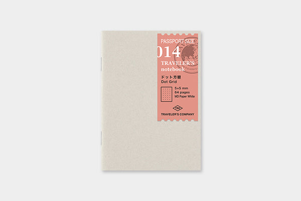 TRAVELER'S COMPANY Traveler's Notebook Insert (Passport) - 014 Dot Grid