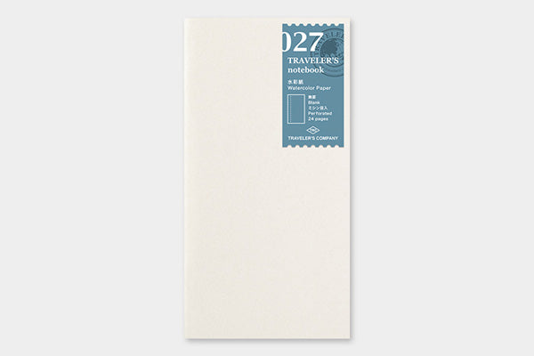 TRAVELER'S COMPANY Traveler's Notebook Insert (Regular) - 027 Watercolour Paper