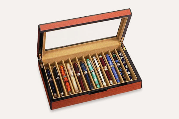 VOX LUXURY 12-Pen Display Case - Rosewood