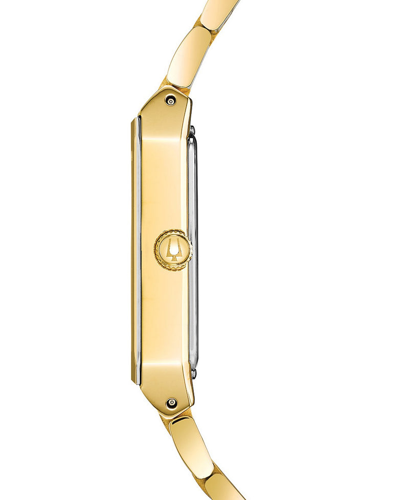 Bulova 97D120 Futuro Diamond-Accent Gold-Tone Stainless Steel Bracelet Watch 30x45mm Men Watches