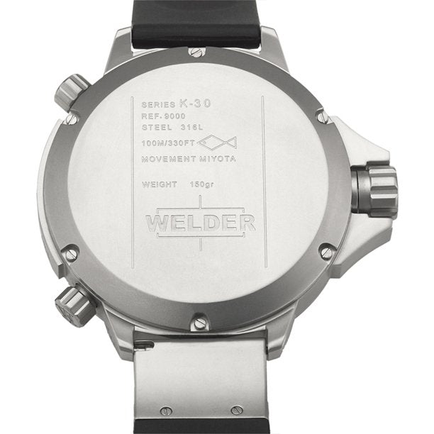 Welder K30-9000 by U-Boat K30 Oversize Triple Time Zone Steel Sport Men Watches Lexor Miami
