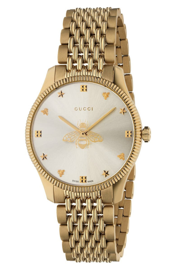 Gucci YA1264155 Gold Stainless Steel Unisex Watches