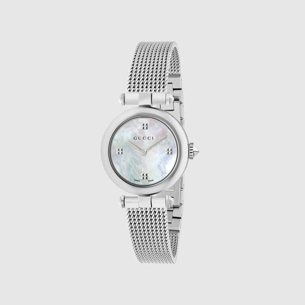 Gucci YA141504 Stainless Steel Mesh Strap Women Watches