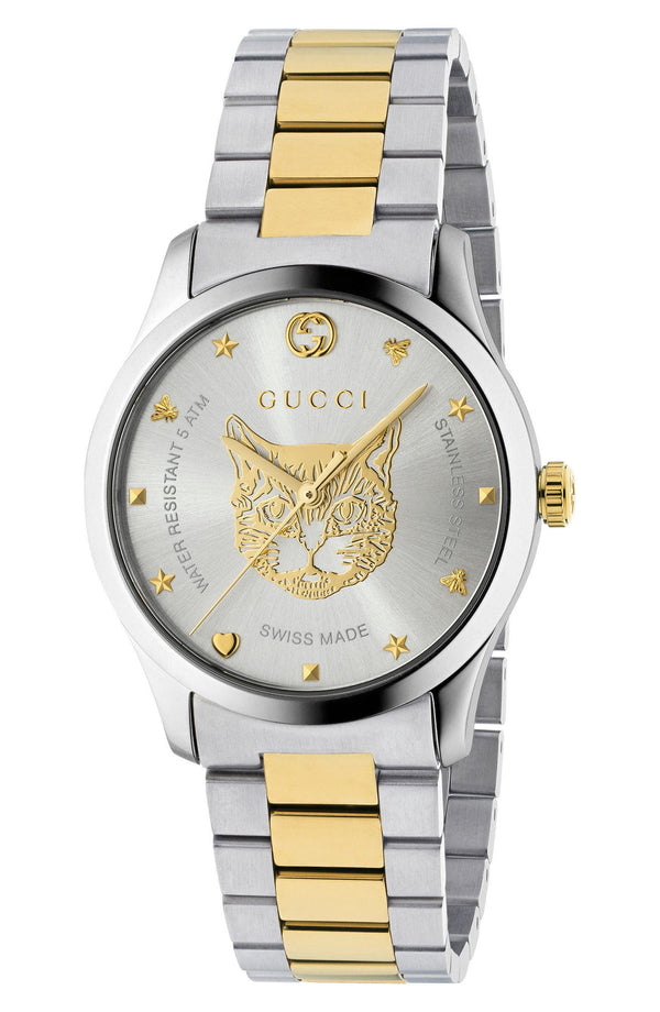 Gucci YA1264074 G-Timeless Bracelet, 38mm Unisex Watches Lexor Miami