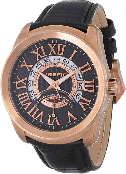 Orefici ORM8W4402 Classico World Time Slim Classy Sleek World Time Unisex Watches Lexor Miami