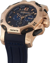 Orefici  ORM11C4804 Subacqueo Trenta Blue Dial Rose Gold Steel Blue Strap Chrono Men Watches Lexor Miami
