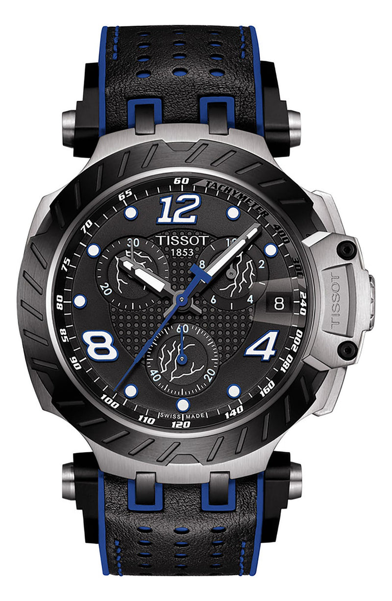 Tissot T1154172705703 T-Race Thomas Lüthi Limited Edition Chronograph Leather Strap Men Watches