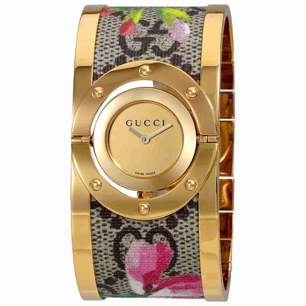 Gucci YA112443 Twirl Bloom Gold Twirling Dial Gold-plated and Floral Women Watches Lexor Miami