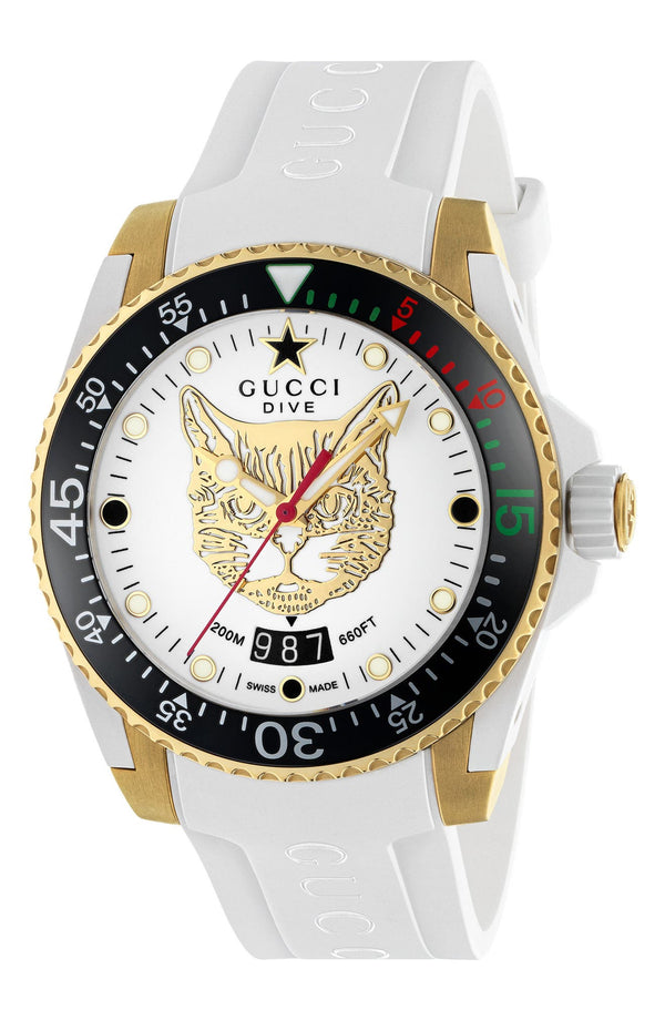 Gucci YA136322 Dive Quartz White Dial Women Watches Lexor Miami