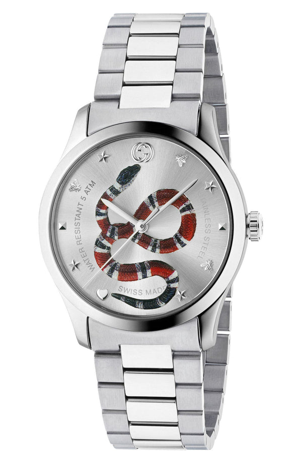 Gucci YA1264076 G-Timeless Bracelet, 38mm Unisex Watches Lexor Miami