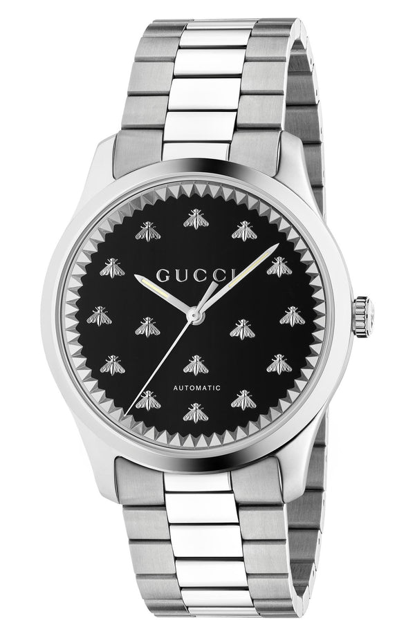 Gucci YA126283 Bee Automatic Bracelet Watch, 42mm Men Watches Lexor Miami