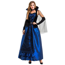Women Halloween Cosplay  Vintage  Style Witch Count Middle Ages Court DressDrop shipping supplier boy girl the man woman Sexy