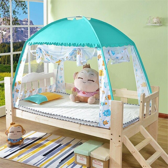 Kidlove Baby Infant Bed Mosquito Net Indoor Tent for Children Net Netting Folding Baby Mosquito Nets Bed Mattress For 0-3 Years