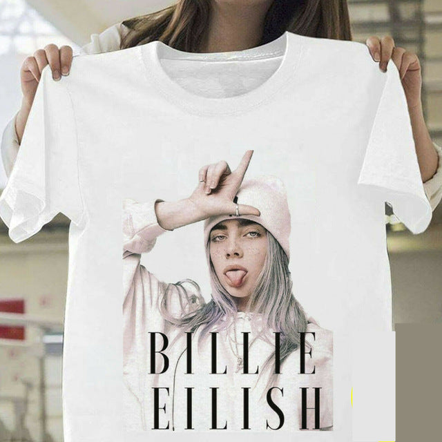 Billie Eilish TShirt Billie Eilish Fans White Cotton Men Supplier Hot Selling T-Shirts Top Tee Plus Size Streetwear Dropshipping
