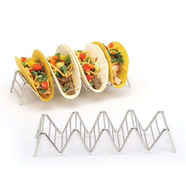 Largest supplier Taco Holder Stainless Steel Taco Stand Mexican Food Rack Shells 1-4 Slots USA