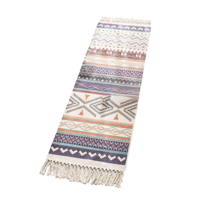 Cotton Linen Nordic Style Hand-woven Mats Tatami Carpet 60x150cm Living RoomDrop shipping USA supplier tool christmas halloween