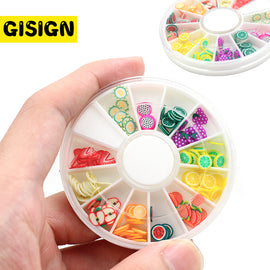 12 Style Fruit Charms for Slime Addition Slices Lizun Accessories Putty Nail Art Slime Suppliers Toys Decoration