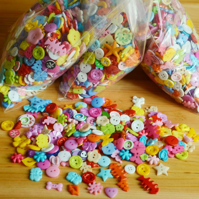400pcs plastic candy button for kids DIY toys material/ Children adult art craft handmade accessory suppliers, free shipping