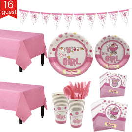 16 person happy birthday kids baby boy shower party decoration set banner table cloth Knife Fork Spoon plates supplier