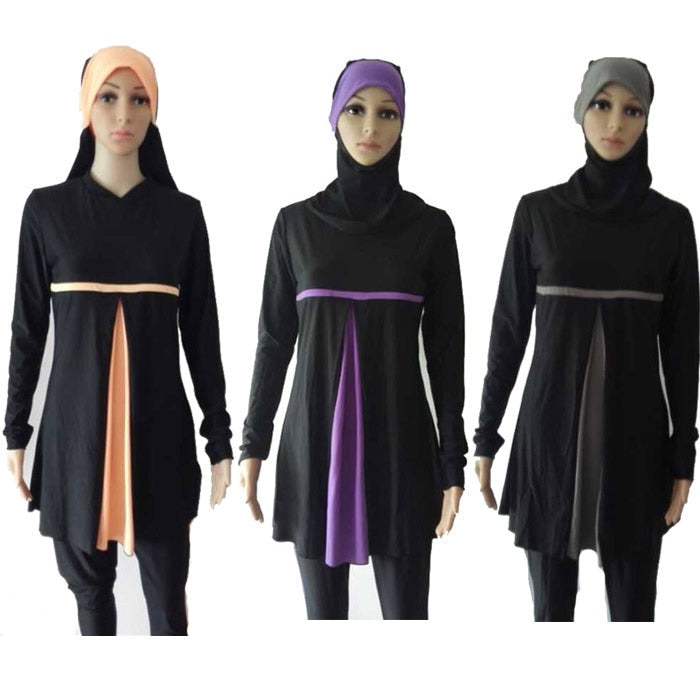 Swimsuit Supplier Muslim Swimwears for Women Female Swimsuit Bathing Suit Modest Full Cover Hijab Burkinis for Muslim Girls