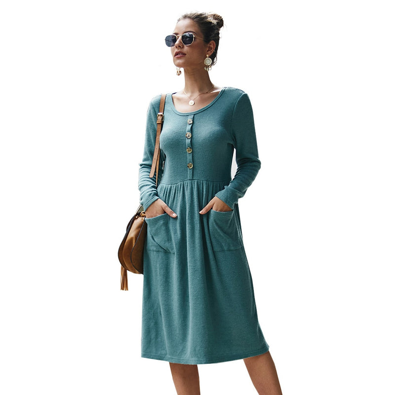 Knitted supplier dress sexy women casual long sleeve A-line supplier velvet women dresses new arrival 2019 female winter plusy