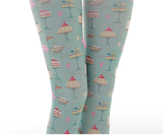 Sweet pastry pattern pantyhose women dropship suppliers socks