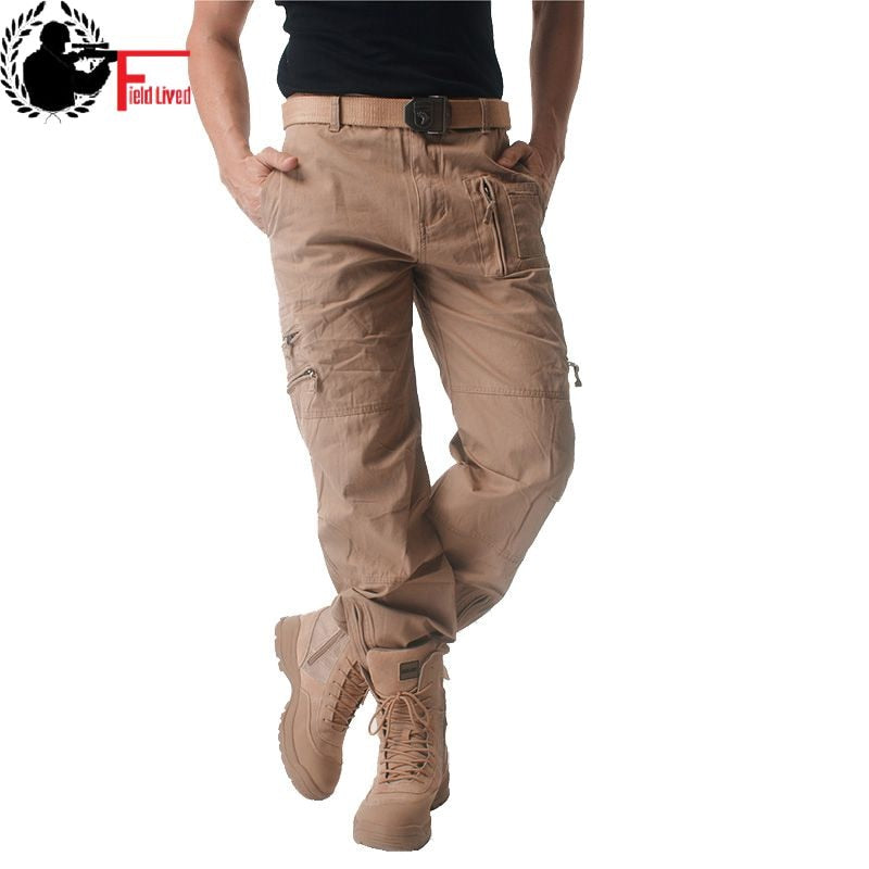 Mens Cargo Pants Male Tactical Pants Military Army Style Mens Casual Jogger Camo Multi Pocket Baggy Straight Trousers Camouflage
