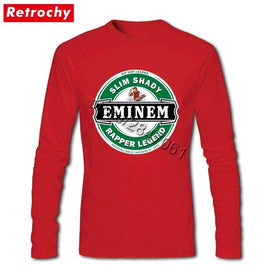 Dropshipping Suppliers Eminem Slim Shady T Shirts Men Tees Shirts Large Size Eco Cotton Crew Neck  Tees Shirts