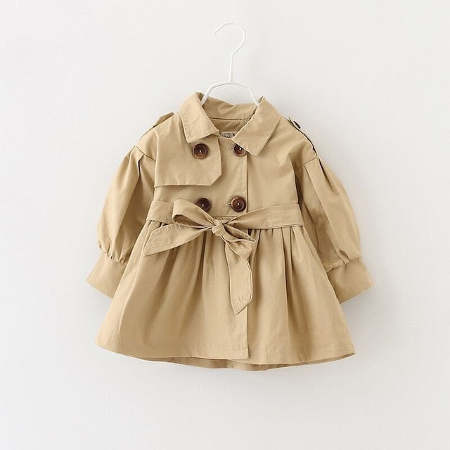 Girls Designer Long Sleeve Trench Coat
