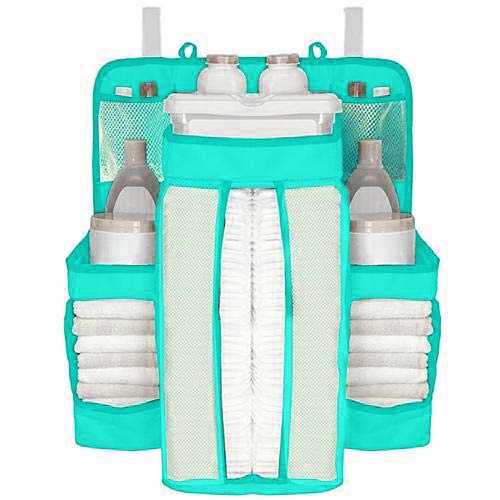 White/Gray Oxford Portable Baby Bed Hanging Storage Bag Toy Diapers Pocket Bedside Organizer Infant Crib Bedding Set Organizer