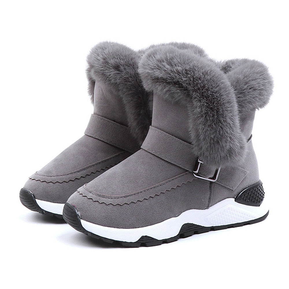 Designer Lux Suede Style Plush Sneaker Boots for Toddler/Big Girls