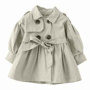 Spring/Autumn Girls Long Sleeve Trench Coat