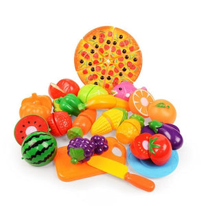 24 pc. Children's Pretend Play Plastic Fruit & Vegetable Toys