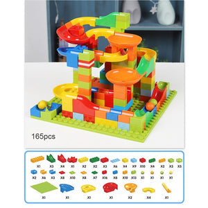 Imagination Station 165 or 330 pcs Marble Race Block Track