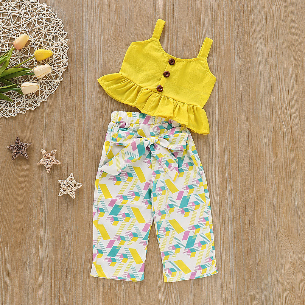 Cute Top & Capri Short for Girls