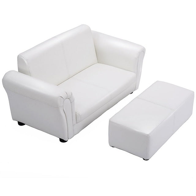 Cozy Girls Extra-Wide Sofa With Ottoman
