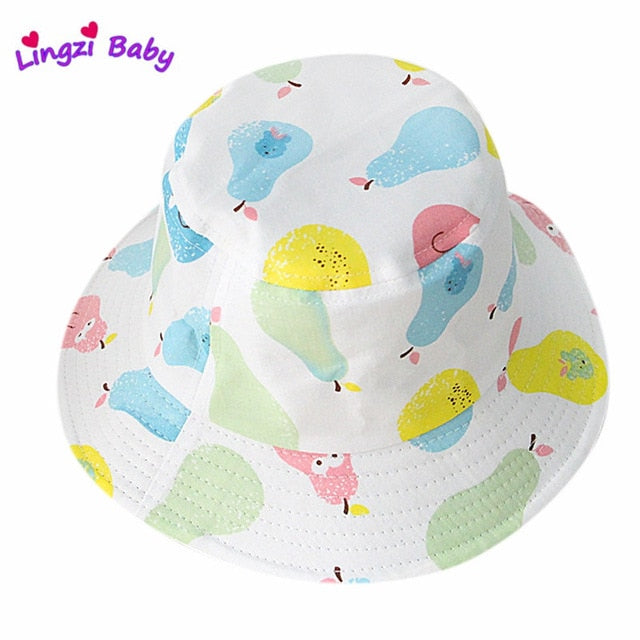 Boy/Girl Cartoon Print Bucket Hats