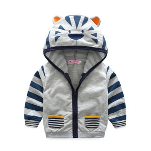 Tiger/Fox Hooded Active-wear Boys Jacket