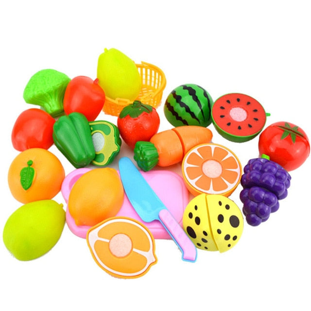 23 pc. Children Kitchen Pretend Play Cutting Fruit\Vegetable Toys