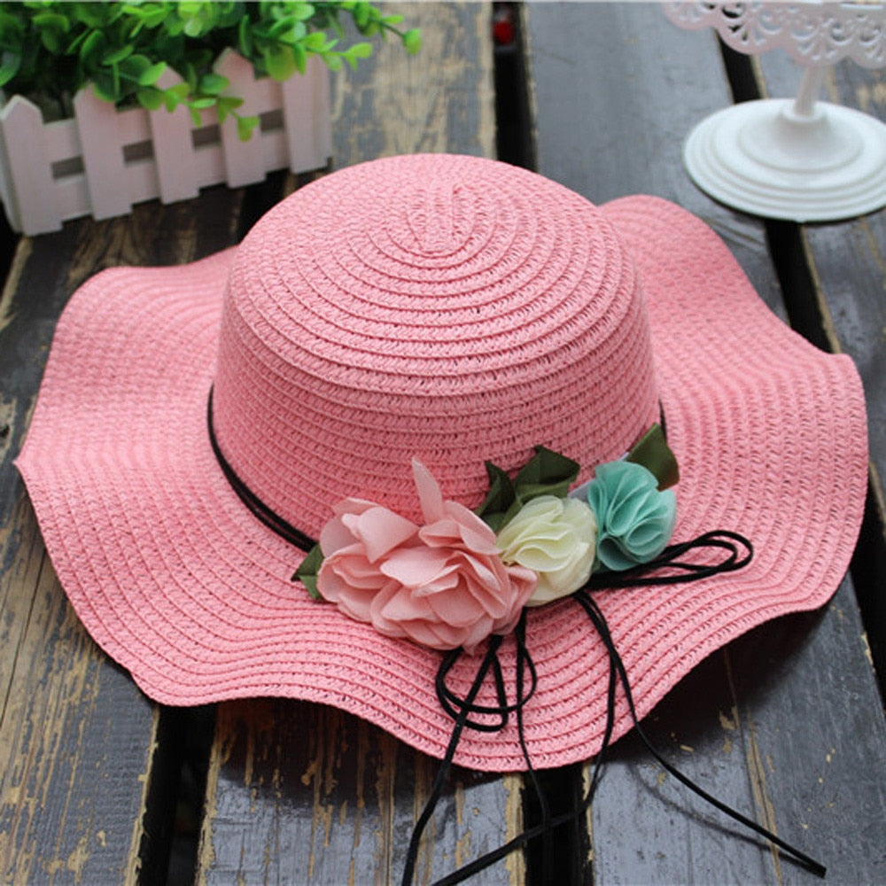 Girls Summer Breeze Breathable Straw Sun Hat