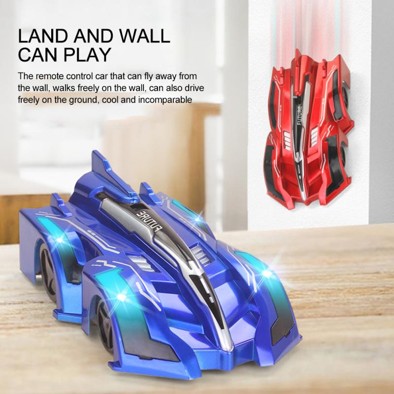 Children's LED Light Wall Climbing Gravity Stunt Remote Control Toy Car