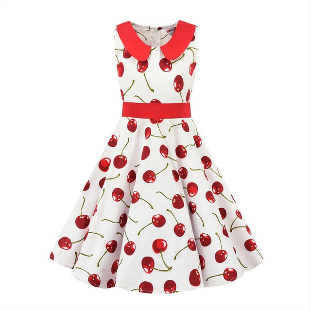 Classic Girls A-Line Cherry Print Sundress