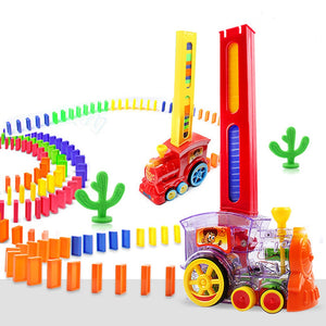 Colorful Toy Domino Block Train Set