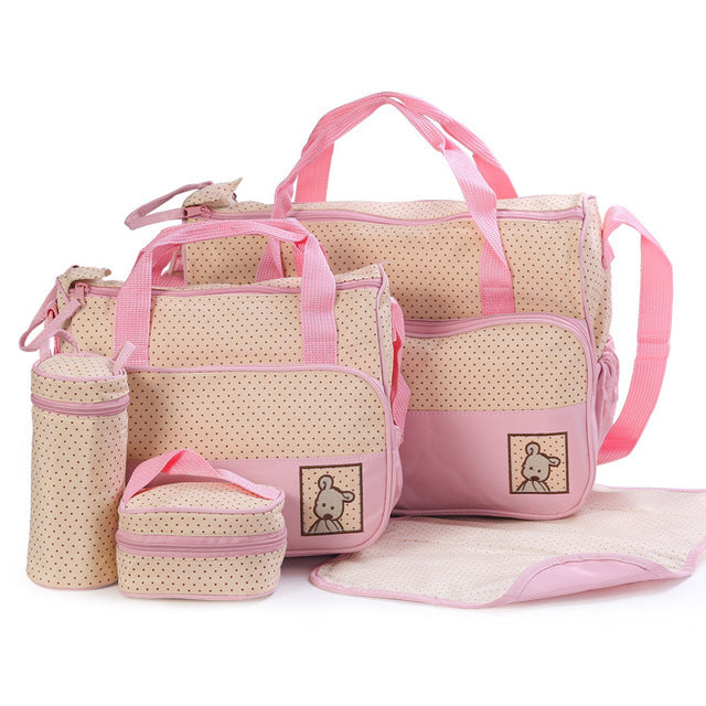 5pc. Traveling Baby Diaper Bag