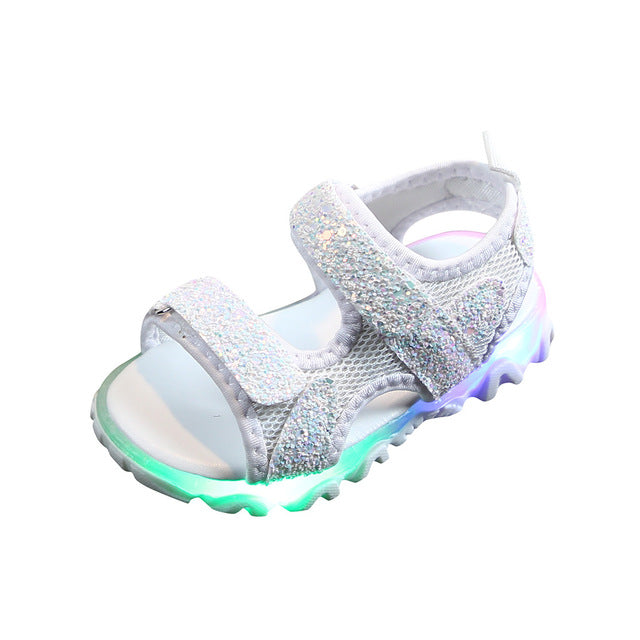Fancy LED Luminous Rocky Mountain Sandals For Kids
